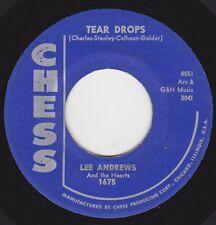 "LEE ANDREWS & HEARTS - ""TEAR DROPS"" b/w ""GIRL ACROSS THE CORNER"" on CHESS  (VG+)"