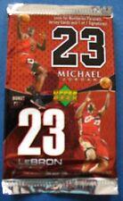 Upper Deck NBA Basketball Lebron James/Michael Jordan Bonus Pack Trading Cards