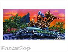 Pizz Weekend Gods Hand Signed Giclee Print Tiki Drink Hotrod Hawaii Painting