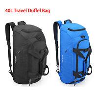 40L Large Waterproof Travel Duffel Backpack Gym Sports Bag Weekend Luggage Bag