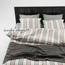 Akerfraken Duvet Quilt cover with Pillow Case(s) Striped design Gray Red Cover