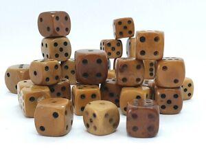 Antik Würfel Spielwürfel Tagua-Nuss Tagua Steinnuss Sammlung 19. Jahrhundert