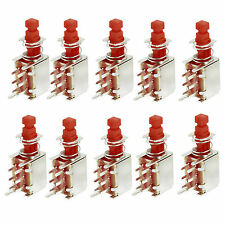 10 Pcs Self Lock Latching Uni-Direction PCB Push Button Switch DPDT 6 Pins