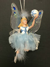 Blue Fairy Frost with Snowball Ornament *Beautiful* New