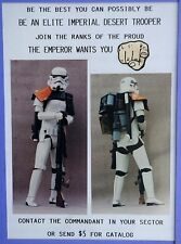 S. WARS SAND/DESERT TROOPER ARMOR SET From My $5 Mail Order S. F. Prop Catalog.