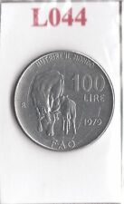 L044 Moneta Coin ITALIA Repubblica Italiana 100 Lire 1979 Comm. FAO 1° Tipo