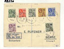 AB250 British 1917 Montserrat USA Berne Switzerland Cover {samwells-covers}PTS
