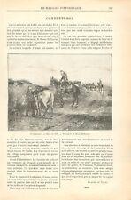 Soldats Hussards à Cheval Tableau d'Étienne-Prosper Berne-Bellecour GRAVURE 1898