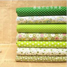 Stoffpaket grün Quilt Stoffreste 7*( 25*25cm) 100 % Baumwolle