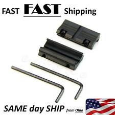 "1 Pair Picatinny W 3/8"" 11mm Dovetail To 7/8"" 20mm Weaver Rail Adapter Mount USA"