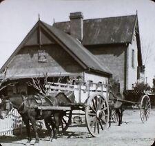 Carts, Alta Gracia, Argentina, Vintage Keystone Magic Lantern Glass Photo Slide