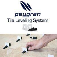"Peygran Tile Leveling System 1/8"" (3mm) Clips - Lippage-Free tile installation"