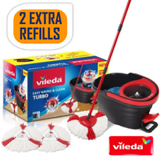Vileda Easy Wring And Clean Turbo Mop / Bucket set With 2 Refills