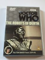 DR Doctor Who - The Robots of Death (1977) UK (region 2) BBC DVD Tom Baker MINT