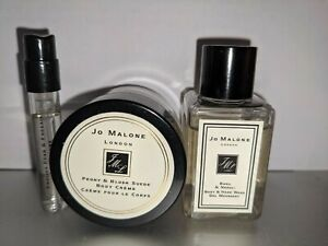 NEW Jo Malone cologne 3 pcs BODY CREAM, BATH WASH & SAMPLE VIAL, PEONY BLUSH ETC