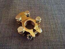 battery terminal solid brass gold plated 12v 24v positive