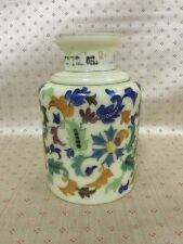 """Antique Russian Glass And Enamel Painted Bottle With Inscription 7"""" Tall"""