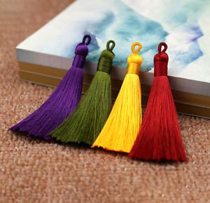 22 Colors 8cm Ice Silk Earrings Tassel Trim Pendant Jewelry Making DIY