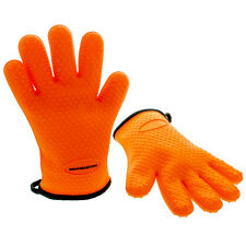 BBQ Master Heat Resistant Silicone Cooking Grilling Gloves, Barbecue Oven M