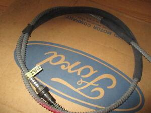 NOS 1979-1980 Ford LTD Custom Parking Brake Rear Cable & Conduit D9AZ2A635A OEM