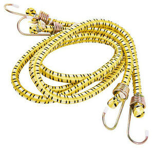 2 x Heavy Duty 120cm 48 Inch 4 Foot Bungee Cord Strap Hooks Luggage Suitcase Car