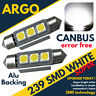 2X CITROEN DISPATCH 1.9 239 C5W WHITE INTERIOR COURTESY BULB LED UPGRADE LIGHT