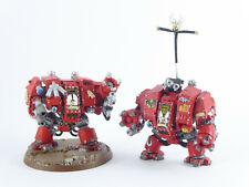 2 x Cybot - Dreadnought der Blood Angels - bemalt -