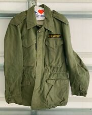 1955 Us Army Military Coat Single Breasted Olive 84052558589 w/ Army Patch