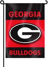 "Georgia Bulldogs 13"" x 18"" Two Sided Garden Flag (""G"" Logo) NCAA"