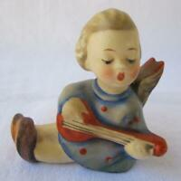 Hummel Goebel Porcelain Candle Figurine ANGEL LUTE Germany