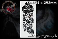 Airbrush Schablone für Schädel - Totenköpfe - Pile of Skull Stencil