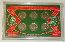 SSCA BUFFALO NICKEL Collection US MINTED COIN SET OF 6 In Plastic Vault