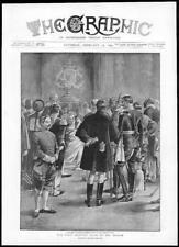 1895-antica stampa Londra Stagione salotto Trono Mannaia si attacca (182)