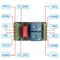 DC3V/3.3V 2 Channel Relay Module Optocoupler Isolation Level Trigger