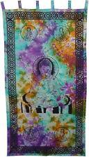 Buddha Tie Dye Curtain Tapestry Wall Hanging Door Window Hippie Boho Bohemian