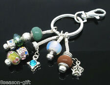 10  Silver Plated Key Chains&Key Rings. Fits Charm Bracelet Charms Beads 140mm
