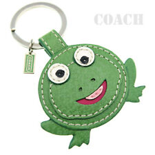 Coach Frog Leather Keychain Keyring Keyfob Bag Purse Backpack Charm 92863 NEW