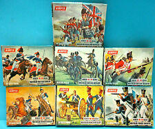 AIRFIX 1/72 WATERLOO INFANTRY CAVALRY ARTILLERY 70s 7X FULL SETS 290 pcs GEM LOT