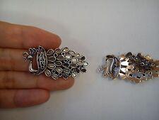 10 peacock pendants charm wholesale antique tibetan silver style jewellery craft