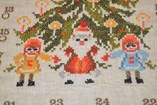 SANTA & HIS LOVE FOR CHILDREN OF CHRISTMAS! VINTAGE GERMAN ADVENT CALENDAR BEADS