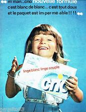 PUBLICITE ADVERTISING 066  1963  la lessive Crio