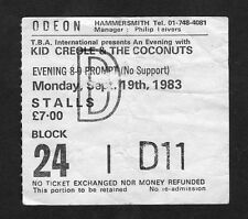 1983 Kid Creole & The Coconuts concert ticket stub Odeon Hammersmith London UK