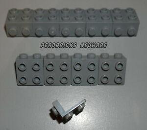 Lego 10x Winkelplatte invers hellgrau 1x2 - 2x2 #44728 NEUWARE