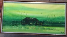 Original Neil Savage Painting - 1974 Australian Homestead Signed Dated & Stamped