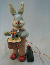 Vintage 1950's Battery Operated Drumming Rabbit Made in Japan