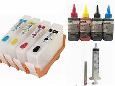 Empty Refillable Ink Cartridge Kit for HP 920 920XL 6500 7000 plus 4x100ml ink