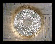"""THOMAS VISALIUS: """"Cercle doré"""". Original Tableau Acrylique sur la toile 50x40cm"""