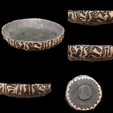 LARGE ANCIENT EGYPTIAN HIEROGLYHIC STYLE BOWL (1)