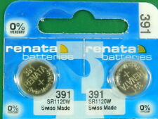 Batteries, 2 Pc Renata 391 Sr1120W