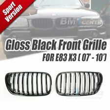 Gloss Black Kidney Front Mesh Nose Grill for BMW X3 E83 LCI 2007-2010 Genuine OE
